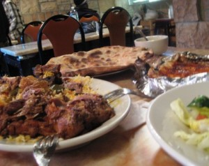 Haneeth (lamb) and Hadramout bread